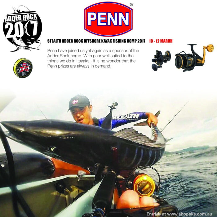 Penn a Sponsor of the 2017 Stealth Adder Rock comp.