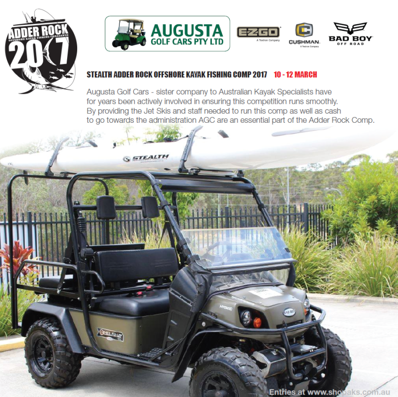 Seat Emporium and Augusta Golf Cars Sponsorship of Adder Rock 2107