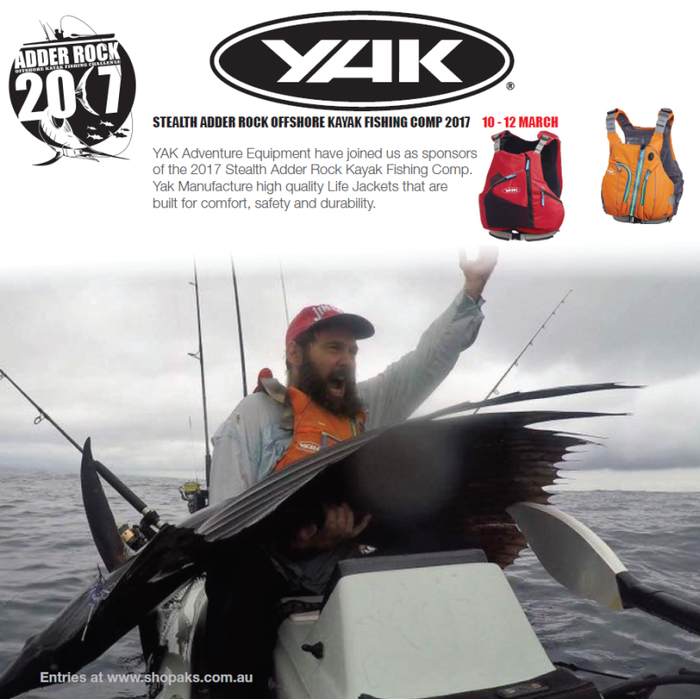 Early Bird Entries For Adder Rock will go into draw for New Yak High Back PFD