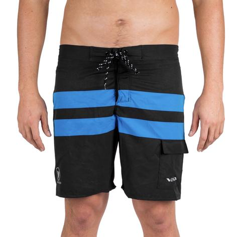 VAIKOBI PADDLE BOARD SHORTS - BLACK/CYAN