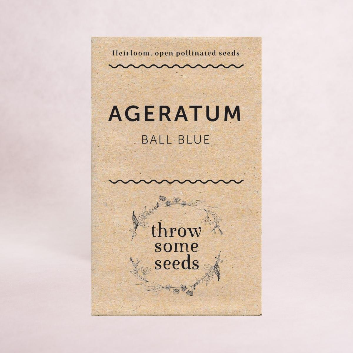 Ageratum (Blue Ball) Seeds - Seeds - Throw Some Seeds - Australian gardening gifts and eco products online!