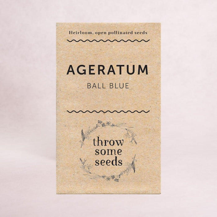 Ageratum (Blue Ball) Seeds - Seeds - Throw Some Seeds - Nature Inspired Gifts for the Home & Garden