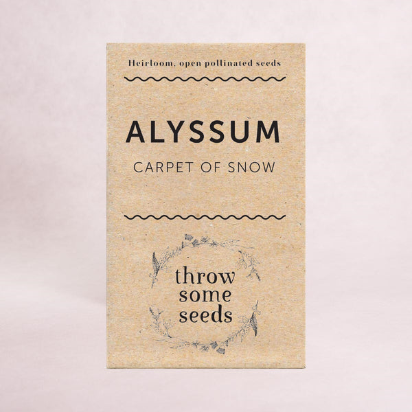 Alyssum (Carpet of Snow) Seeds - Seeds - Throw Some Seeds - Australian gardening gifts and eco products online!
