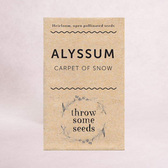 Alyssum (Carpet of Snow) Seeds - Seeds - Throw Some Seeds - Nature Inspired Gifts for the Home & Garden
