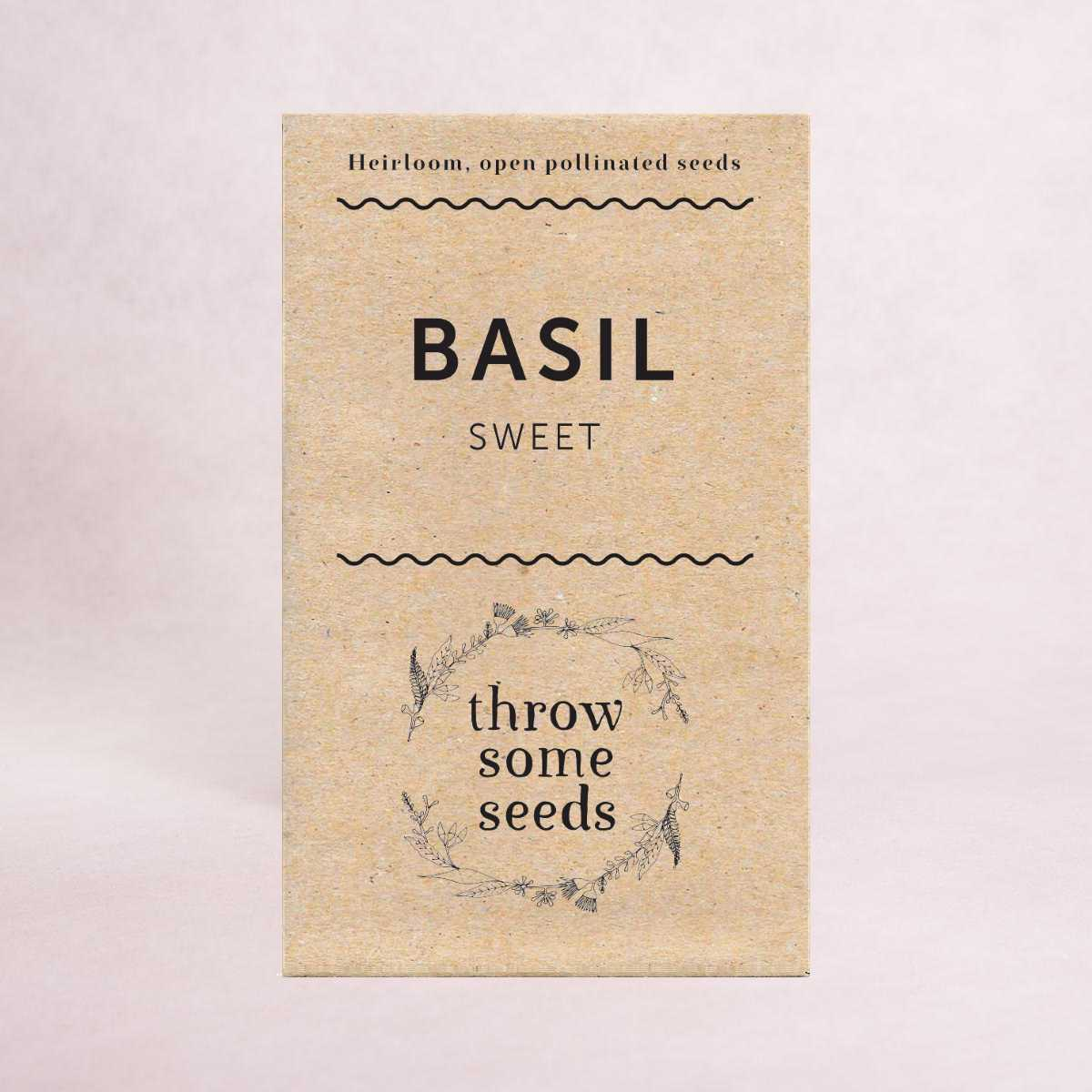 Basil (Sweet) - Heirloom Seeds - Seeds - Throw Some Seeds