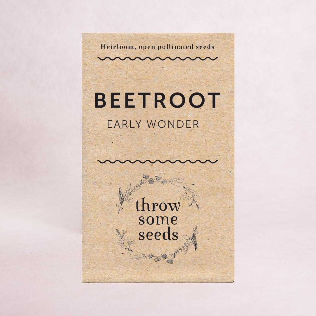Beetroot (Early Wonder) - Heirloom Seeds - Seeds - Throw Some Seeds
