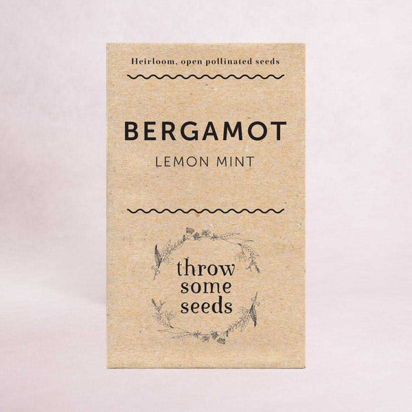 Bergamot (Lemon Mint) Seeds - Seeds - Throw Some Seeds - Australian gardening gifts and eco products online!