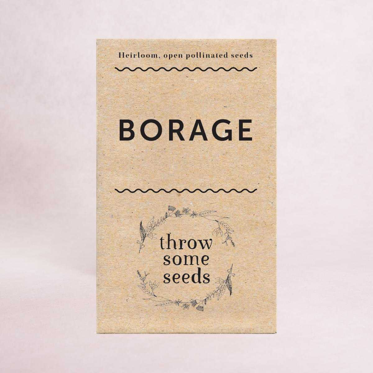 Borage - Heirloom Seeds - Seeds - Throw Some Seeds
