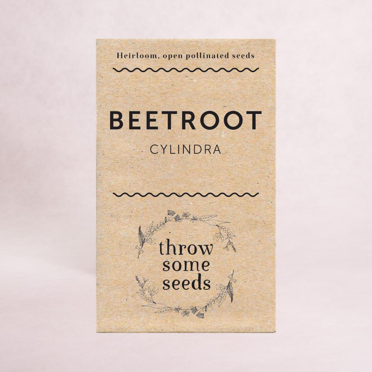 Beetroot (Cylindra) Seeds - Seeds - Throw Some Seeds - Australian gardening gifts and eco products online!
