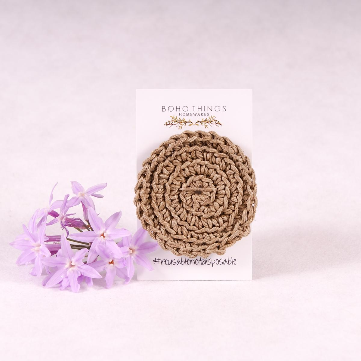 Face Scrubbies - Hemp - Face Scrubbie - Throw Some Seeds - Australian gardening gifts and eco products online!