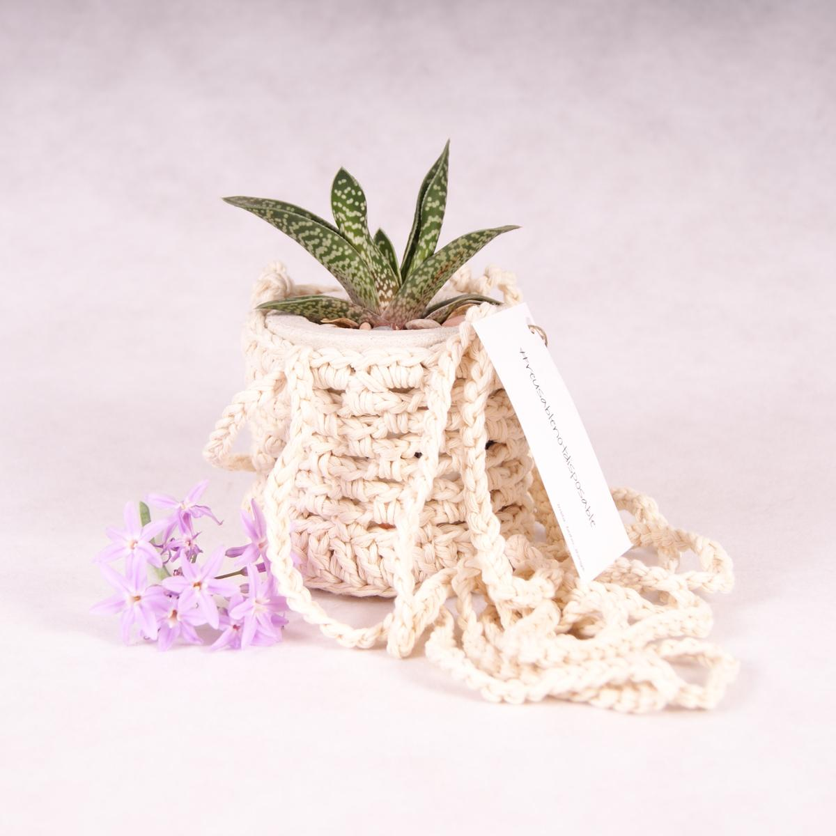 Plant Hanger - Cotton - Plant Hanger - Throw Some Seeds - Australian gardening gifts and eco products online!