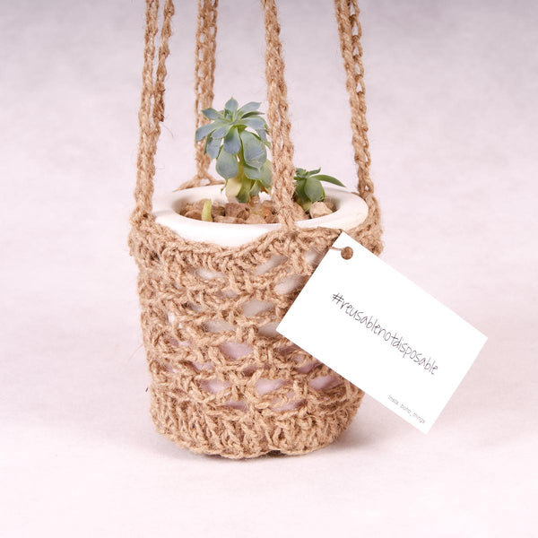 Plant Hanger - Sisal - Plant Hanger - Throw Some Seeds - Australian gardening gifts and eco products online!