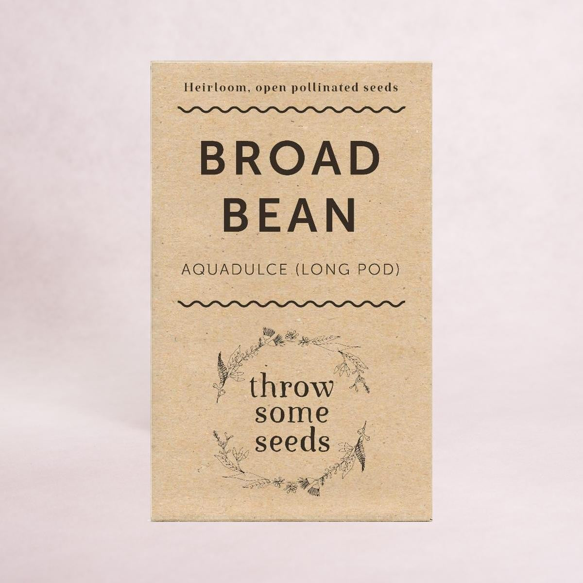 Broad Bean (Aquadulce) Long Pod Seeds - Seeds - Throw Some Seeds - Australian gardening gifts and eco products online!