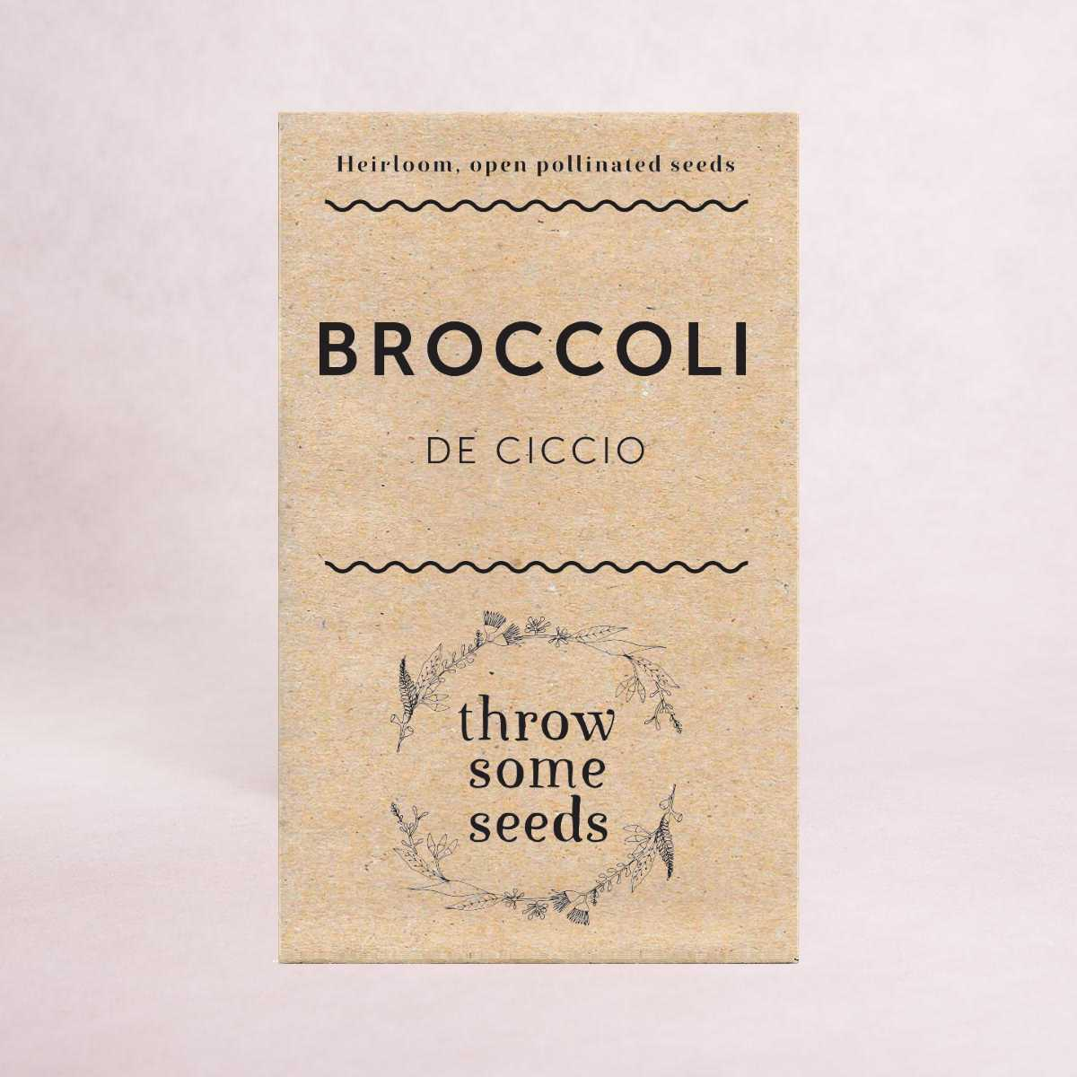 Broccoli (De Ciccio) Seeds - Seeds - Throw Some Seeds - Australian gardening gifts and eco products online!