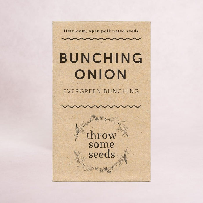 Bunching Onion (Evergreen Bunching) - Heirloom Seeds - Throw Some Seeds