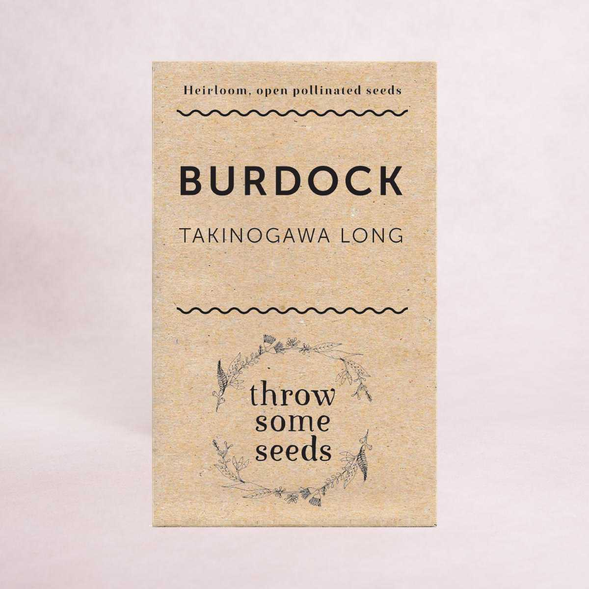 Burdock (Takinogawa Long) Seeds - Seeds - Throw Some Seeds - Australian gardening gifts and eco products online!