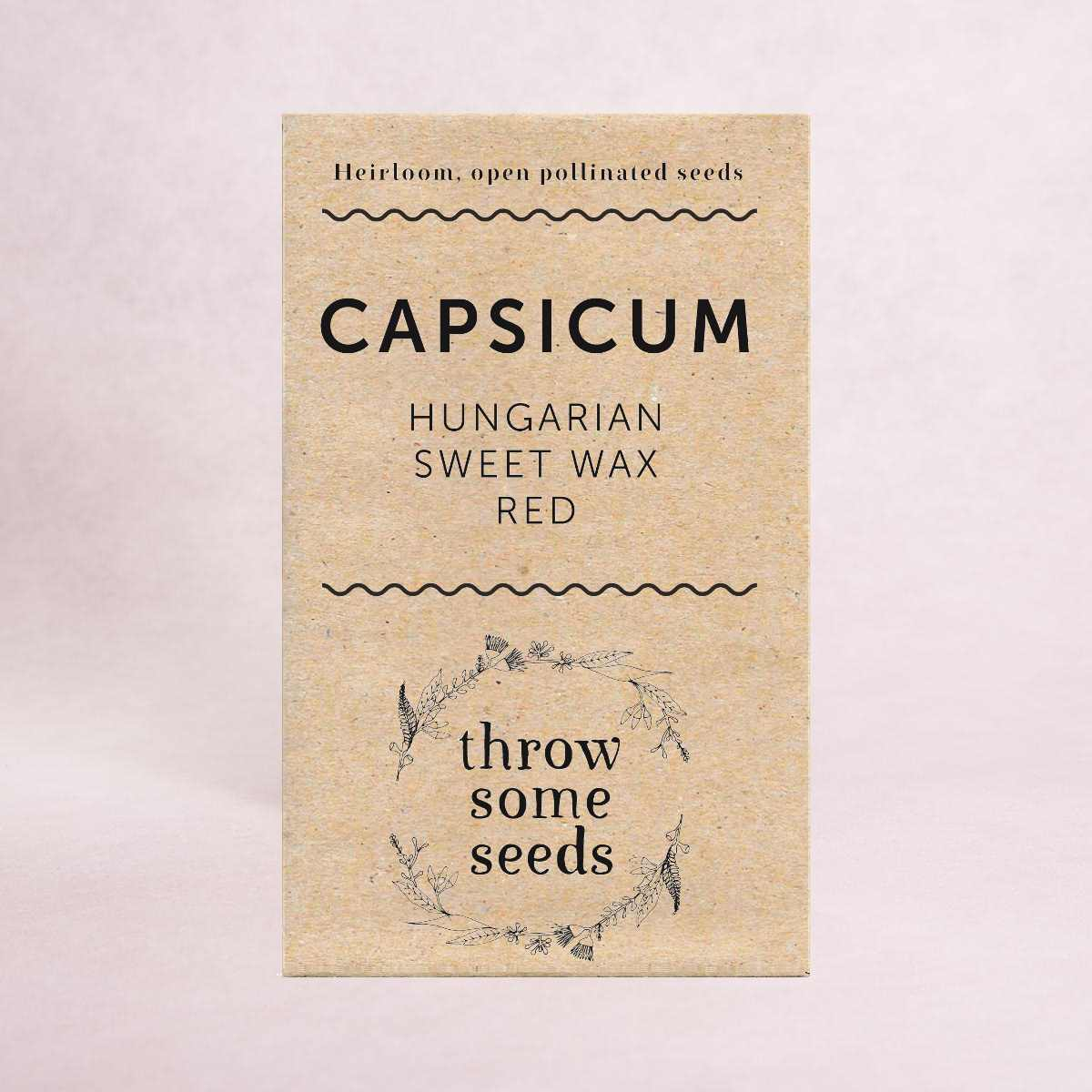 Capsicum (Hungarian Sweet Wax Red) Seeds - Seeds - Throw Some Seeds - Australian gardening gifts and eco products online!