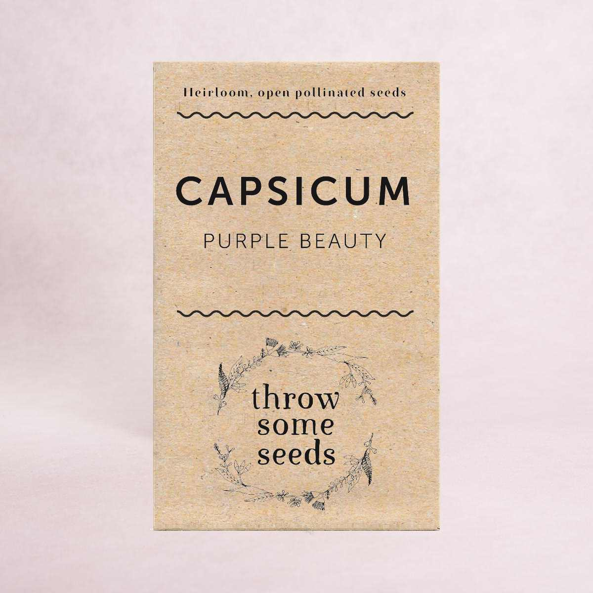 Capsicum (Purple Beauty) Seeds - Seeds - Throw Some Seeds - Australian gardening gifts and eco products online!