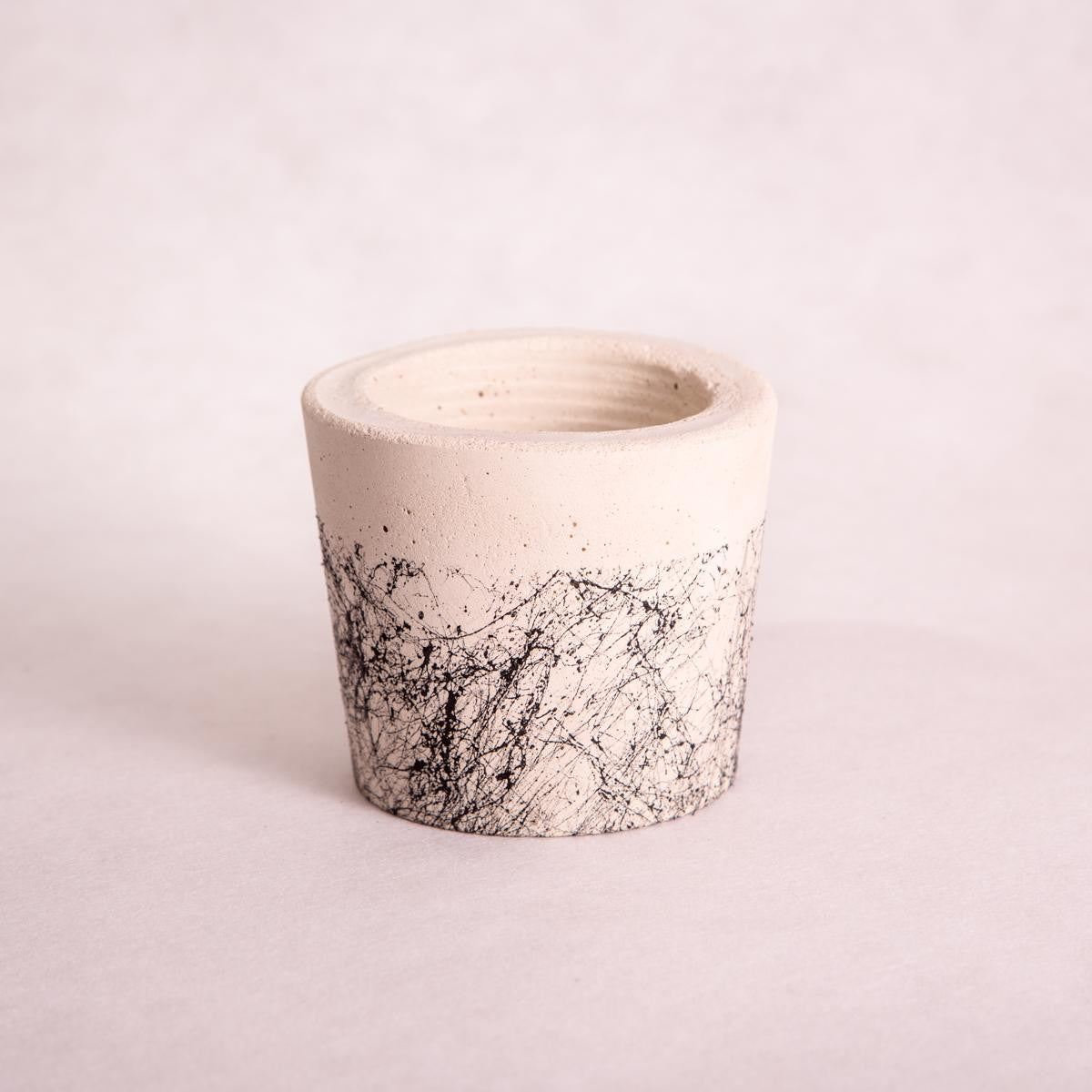 Tub Concrete Planters - Splatter/Granite - Concrete Planter - Throw Some Seeds - Australian gardening gifts and eco products online!
