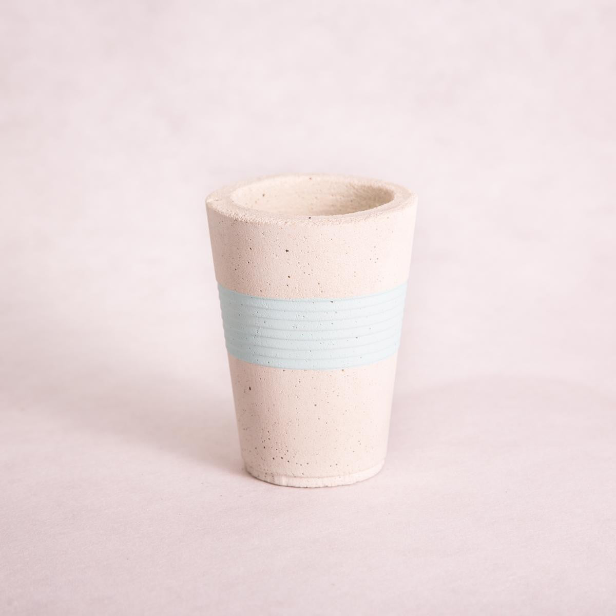 Cup Concrete Planters - Painted (Assorted Colours!) - Concrete Planter - Throw Some Seeds - Australian gardening gifts and eco products online!