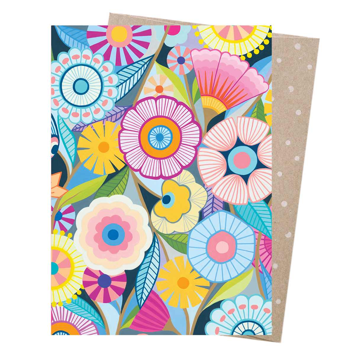 Claire Ishino Greeting Card – Flower Field - Card - Throw Some Seeds - Australian gardening gifts and eco products online!