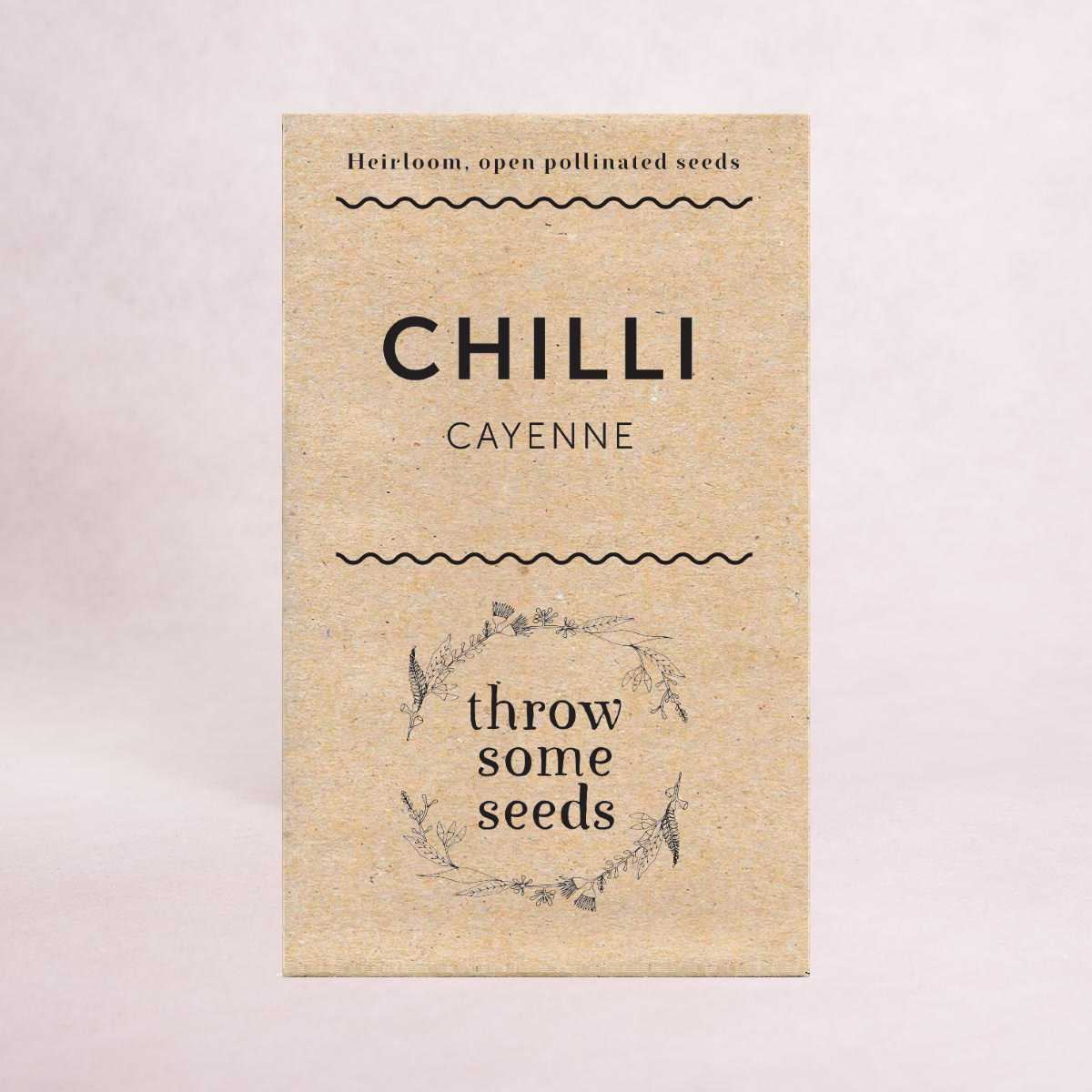 Chilli (Cayenne) - Heirloom Seeds - Seeds - Throw Some Seeds