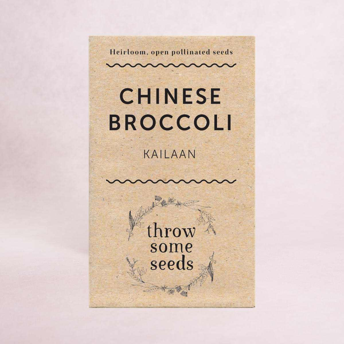 Chinese Broccoli (Kailaan) Seeds - Seeds - Throw Some Seeds - Australian gardening gifts and eco products online!