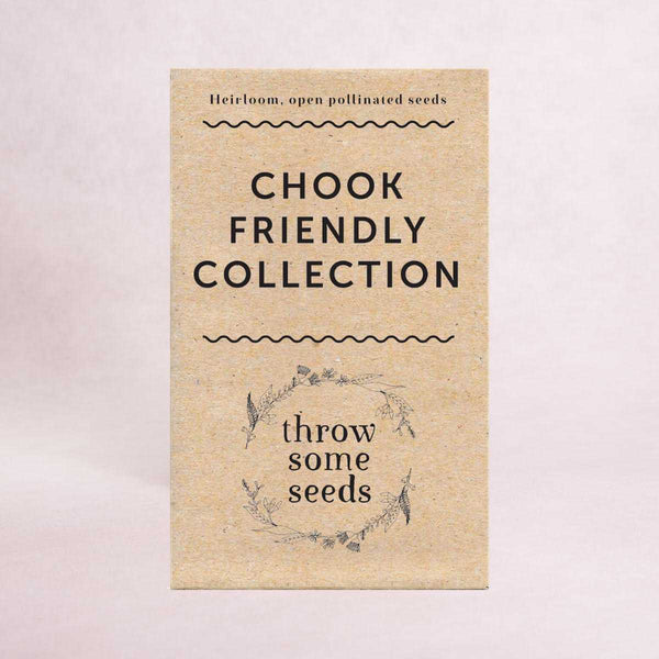 Chook Friendly Collection Seeds - Seed Collections - Throw Some Seeds - Australian gardening gifts and eco products online!
