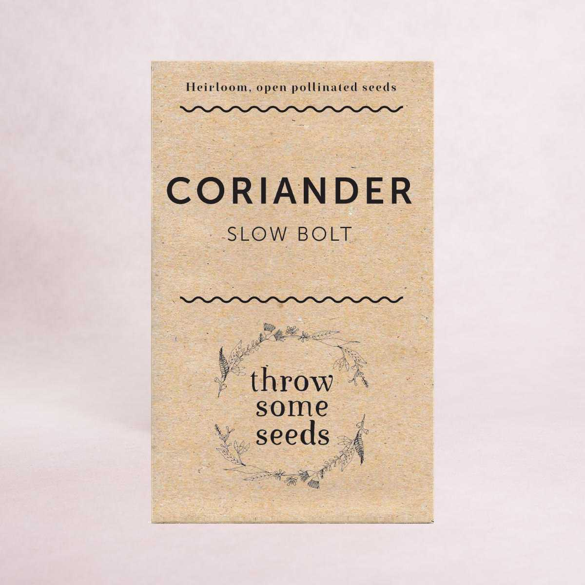 Coriander (Slow bolt) Seeds - Seeds - Throw Some Seeds - Australian gardening gifts and eco products online!