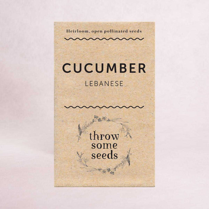 Cucumber (Lebanese) Seeds - Seeds - Throw Some Seeds - Australian gardening gifts and eco products online!