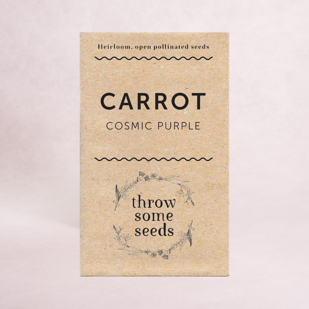 Carrot (Cosmic Purple) Seeds - Seeds - Throw Some Seeds - Australian gardening gifts and eco products online!
