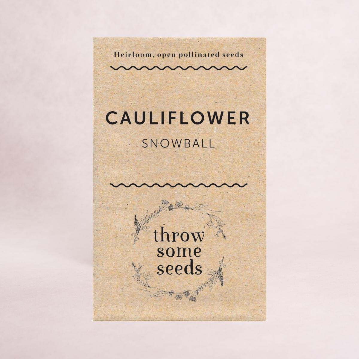 Cauliflower (Snowball) Seeds - Seeds - Throw Some Seeds - Australian gardening gifts and eco products online!