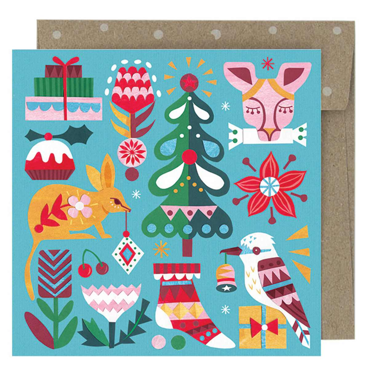 Boxed Christmas Cards 'Bushland Greetings' - Pack of 8 - Card - Throw Some Seeds - Australian gardening gifts and eco products online!