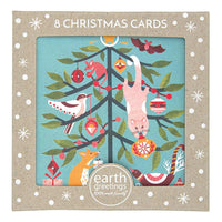 Boxed Christmas Cards 'Festive Frolic' - Pack of 8 - Card - Throw Some Seeds - Australian gardening gifts and eco products online!