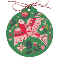 Christmas Gift Tags 'Flame Robin' – Set of 8 - Card - Throw Some Seeds - Australian gardening gifts and eco products online!