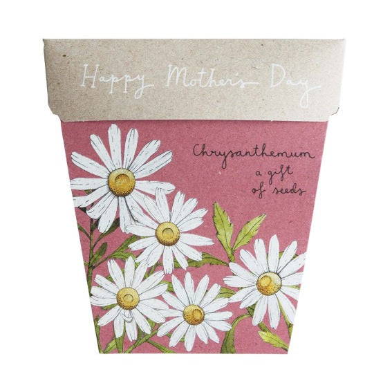 Sow 'n Sow Gift Card with Seeds - Mother's Day Chrysanthemum - Gift of Seeds - Throw Some Seeds - Australian gardening gifts and eco products online!