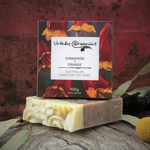 Cinnamon and Orange Soap Bar - Urthly Organics - Bar Soap - Throw Some Seeds - Australian gardening gifts and eco products online!