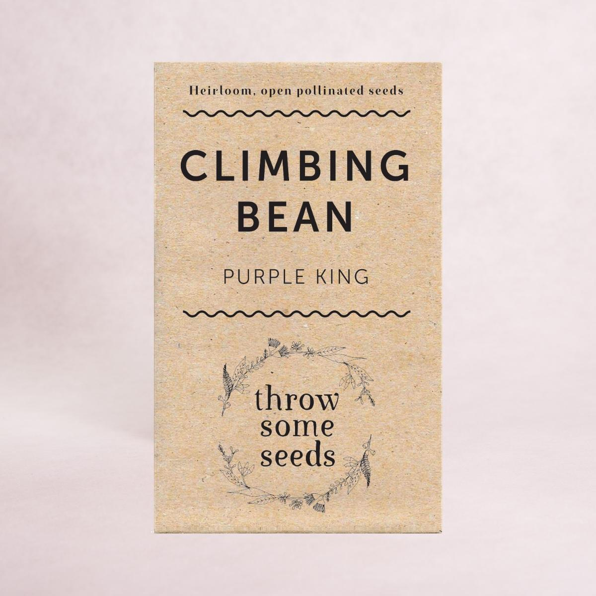 Climbing Bean (Purple King) Seeds - Seeds - Throw Some Seeds - Australian gardening gifts and eco products online!