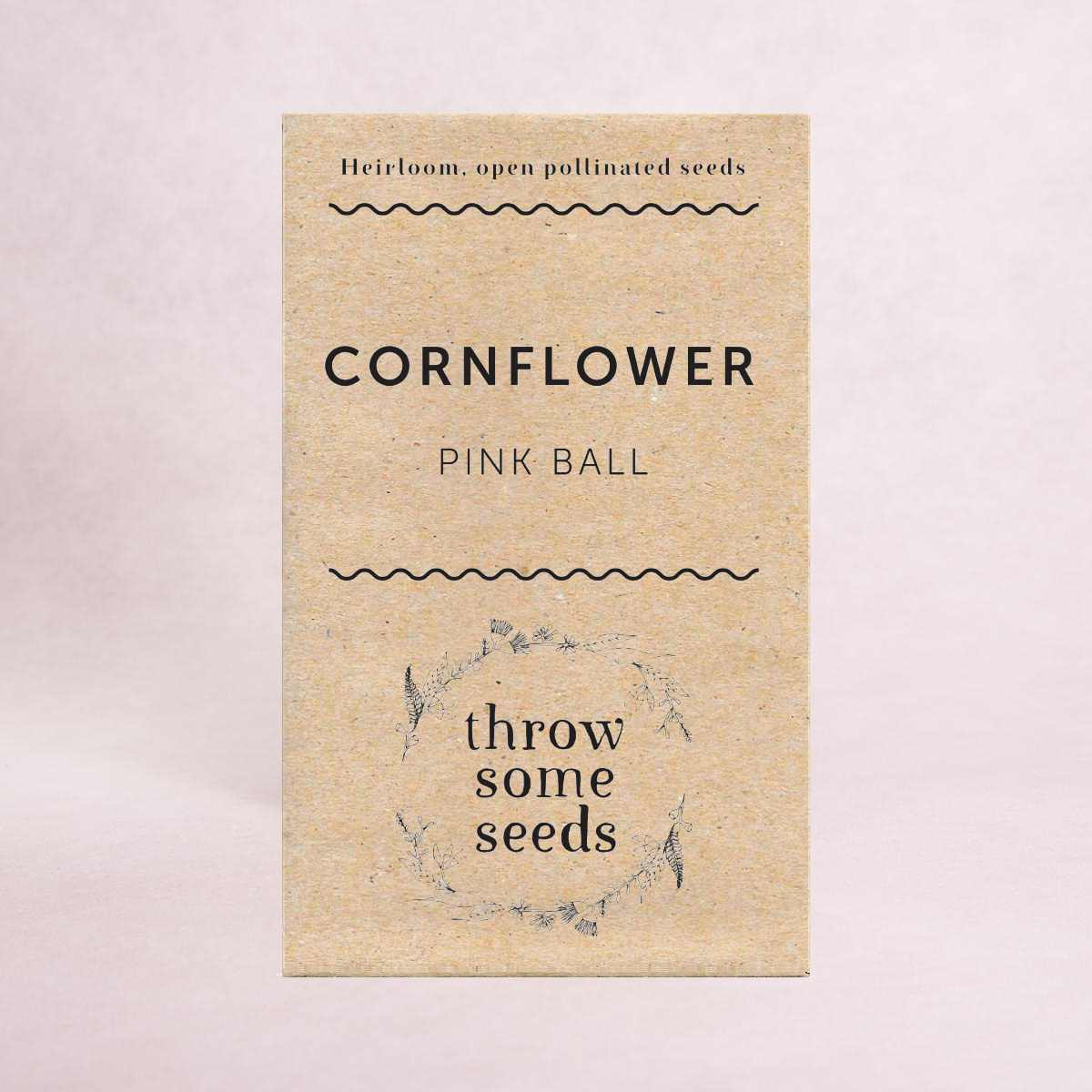 Cornflower (Pink Ball) Seeds - Seeds - Throw Some Seeds - Australian gardening gifts and eco products online!