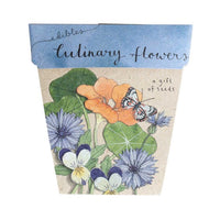 Sow 'n Sow Gift Card with Seeds - Culinary Flowers - Gift of Seeds - Throw Some Seeds - Australian gardening gifts and eco products online!