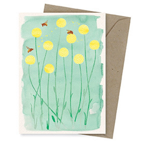 Dreamscapes Card – Bees & Billy Buttons - Card - Throw Some Seeds - Australian gardening gifts and eco products online!