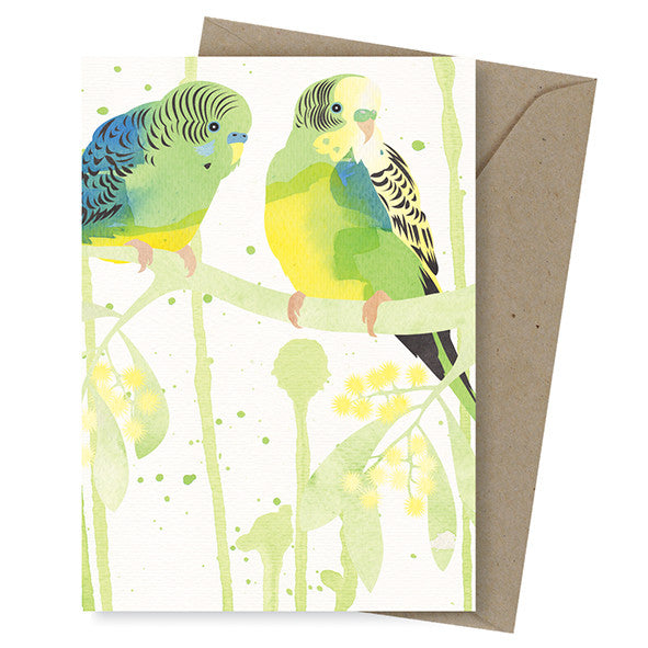 Dreamscapes Card – Bush Budgies - Card - Throw Some Seeds - Australian gardening gifts and eco products online!