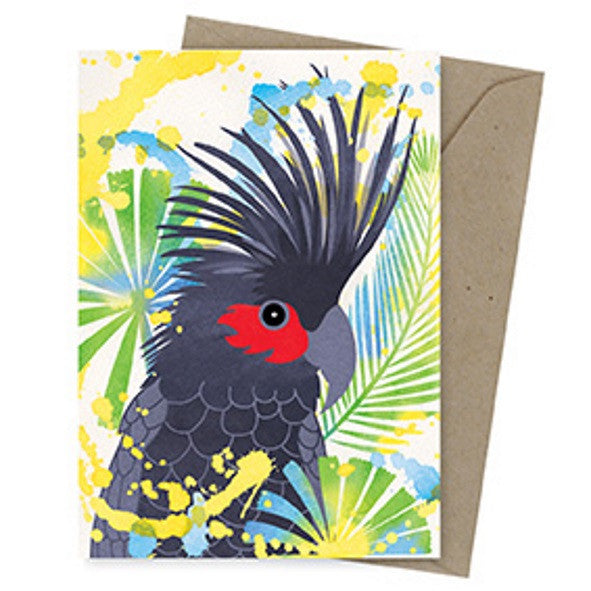Dreamscapes Card – Palm Cockatoo - Card - Throw Some Seeds