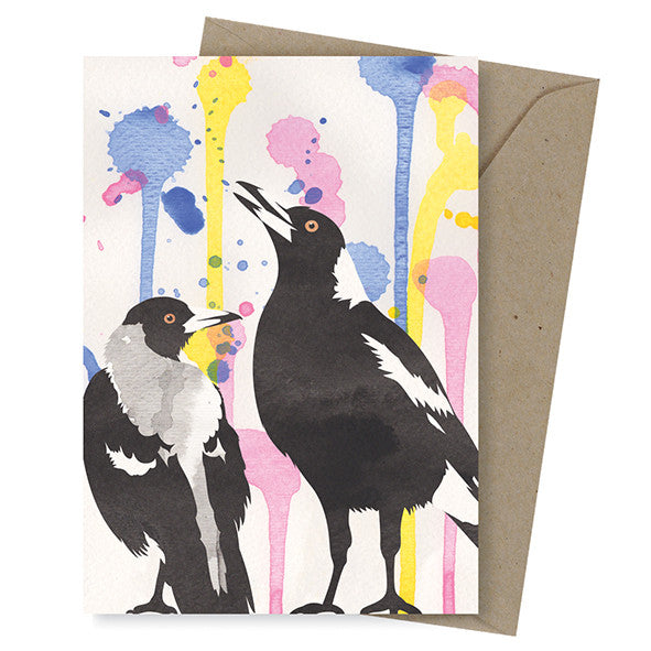Dreamscapes Card – Singing Magpies - Card - Throw Some Seeds