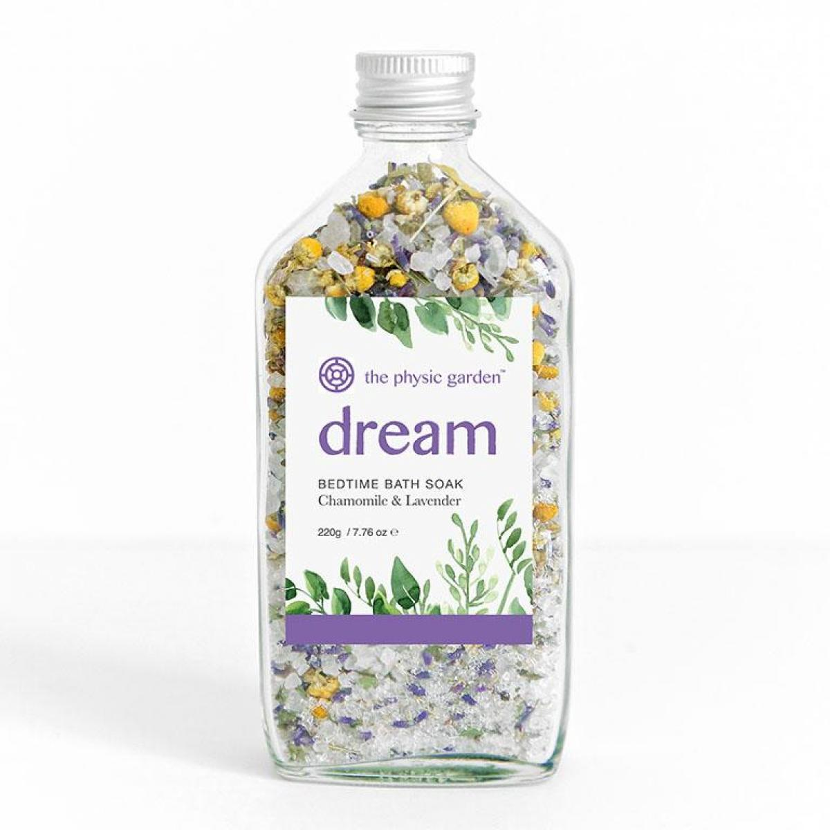 The Physic Garden Dream Bedtime Bath Soak - 220gm - Bath Salts - Throw Some Seeds - Australian gardening gifts and eco products online!