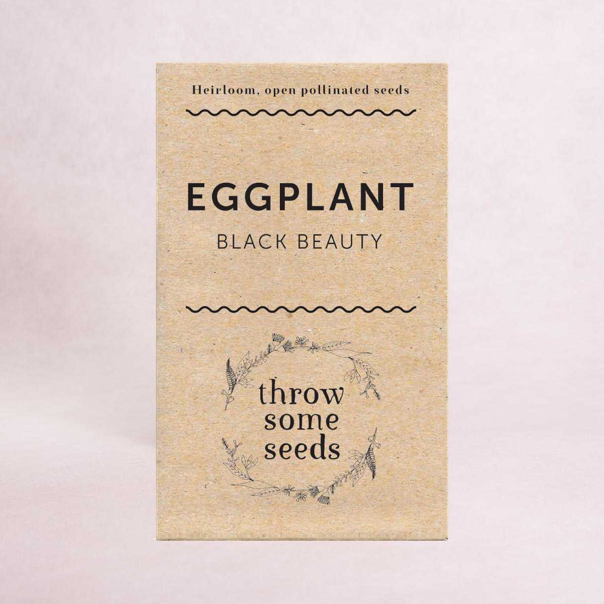 Eggplant (Black Beauty) Seeds - Seeds - Throw Some Seeds - Australian gardening gifts and eco products online!