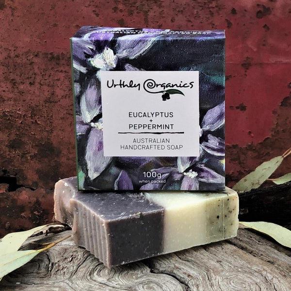 Eucalyptus and Peppermint Soap Bar - Urthly Organics - Bar Soap - Throw Some Seeds - Australian gardening gifts and eco products online!