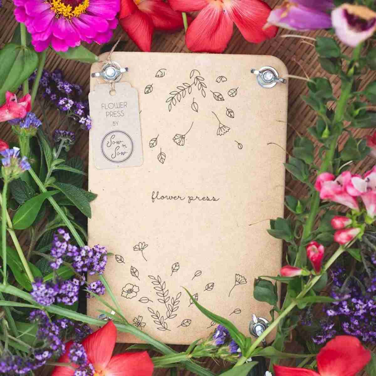 Sow 'n Sow Flower Press - 'Falling' - Flower Press - Throw Some Seeds - Australian gardening gifts and eco products online!