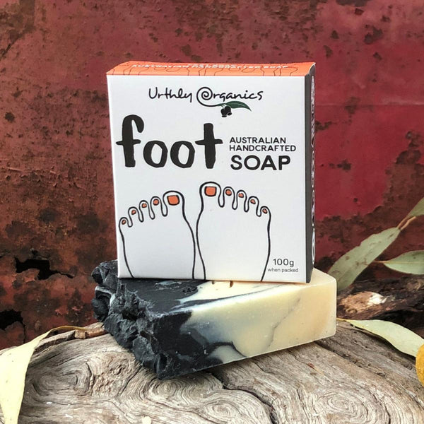 Foot Soap Bar - Urthly Organics - Bar Soap - Throw Some Seeds - Australian gardening gifts and eco products online!