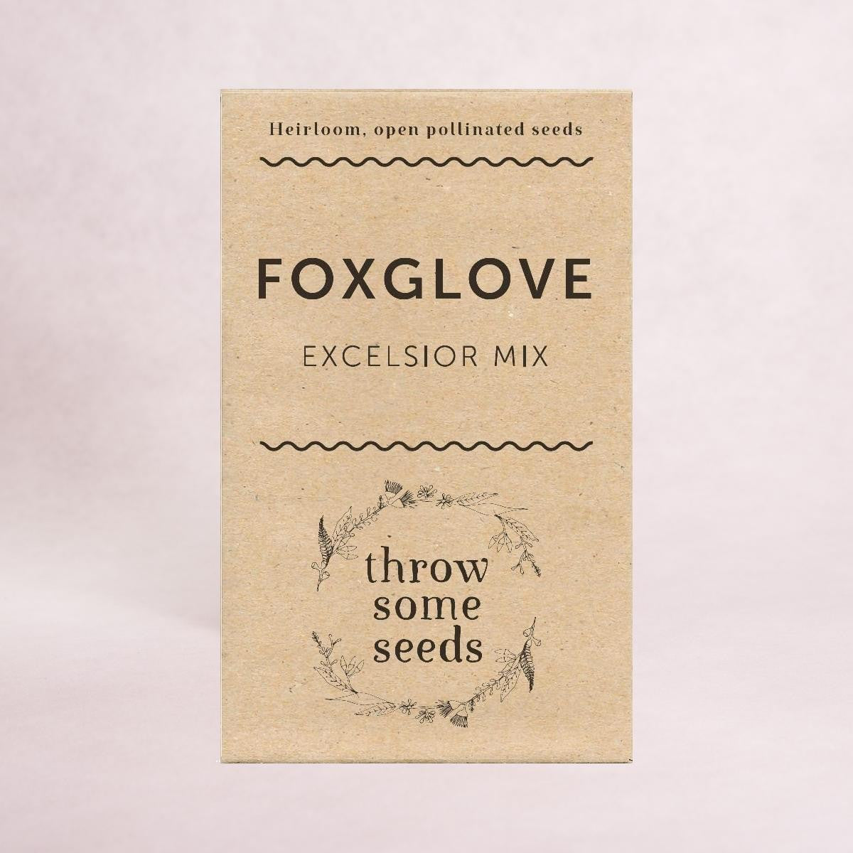 Foxglove (Excelsior mix) - Heirloom Seeds - Throw Some Seeds